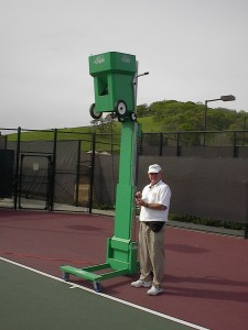 Dave Houston standing next to the Slam on a Serve-Lift