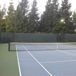 Tuffy windscreen tennis court view